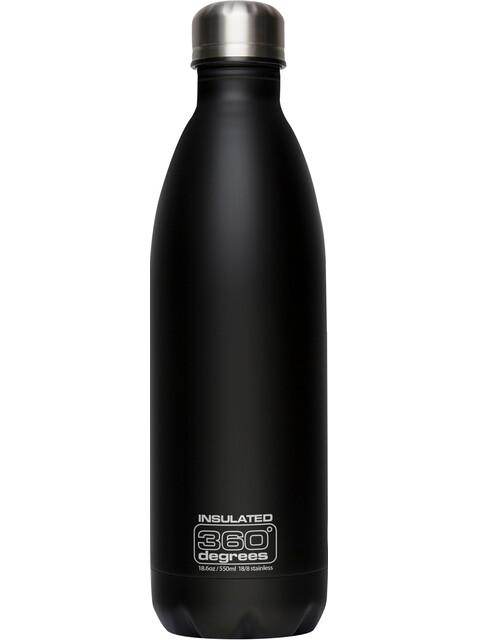360° degrees Soda Insulated Drink Bottle 550ml Black